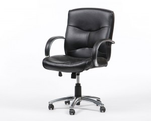Ergonomic Leather Arm Chair