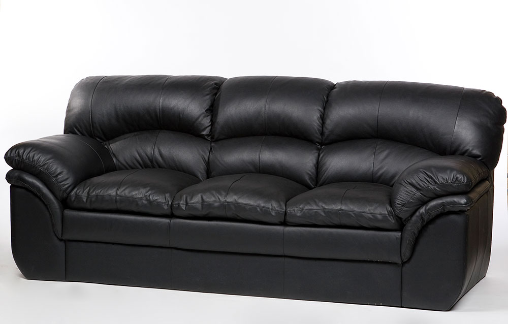 Black Leather Sofa   Townrent - Film Industry, Event and Office ...